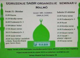 Islamski seminar u Malmeu 21-22 oktobra