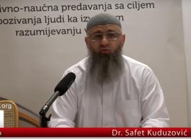 Dr Safet Kuduzović, pitanje u vezi kunut dove