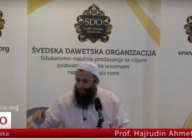 Prof Hajrudin Ahmetović, traženje šerijatskog znanja kroz edeb
