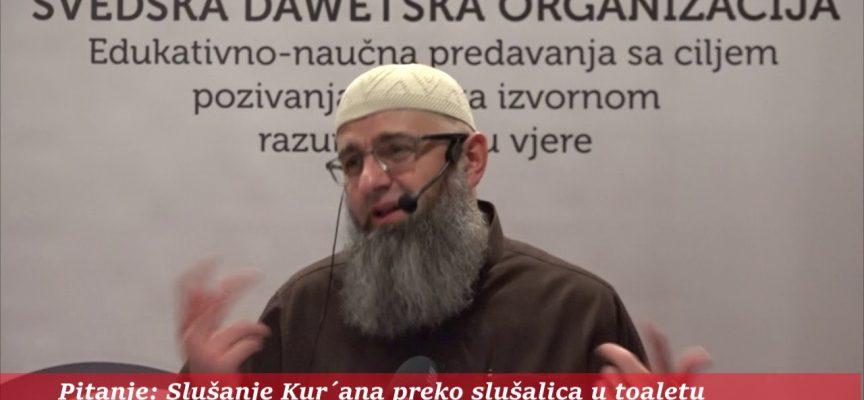 Slušanje Kur'ana preko slušalica prilikom čišćenja toaleta? – dr. Safet Kuduzović