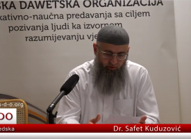 Otkrivanje svojih grijeha zarad da've? – dr. Safet Kuduzović