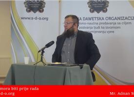 Znanje prije rada! – mr. Adnan Mrkonjić