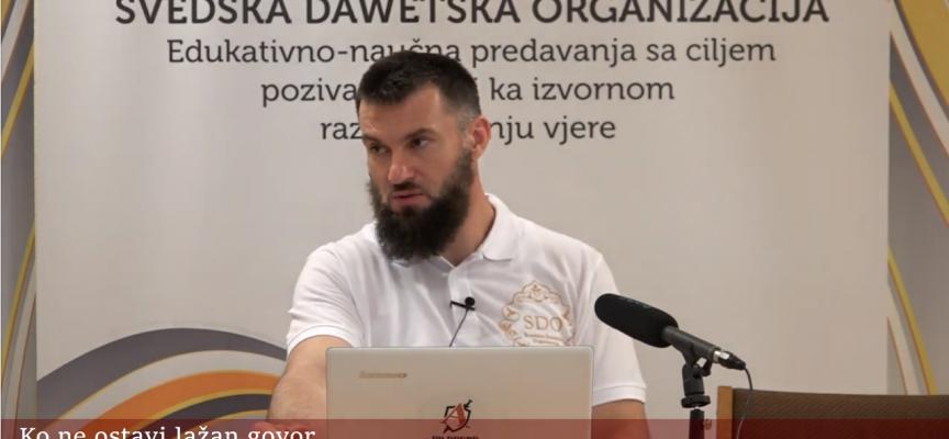 Ko ne ostavi lažan govor…! – hfz. Almir Kapić