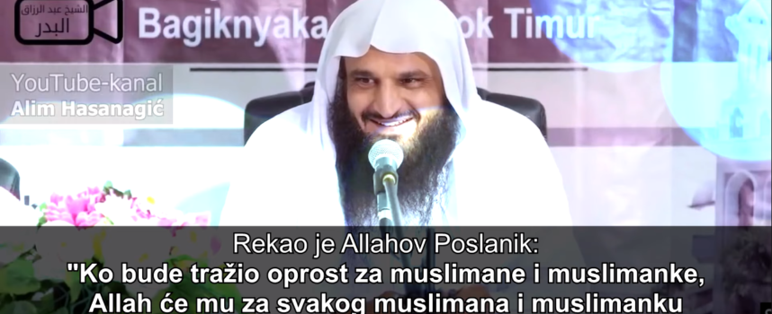 ZARADI MILION DOBRIH DJELA OVOM DOVOM | šejh Abdurrezzak El-Bedr