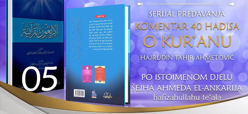 05 Komentar 40 hadisa o Kur'anu