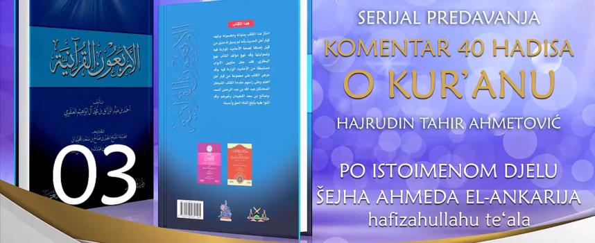 03 Komentar 40 hadisa o Kur'anu