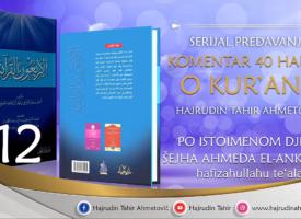 12 Komentar 40 hadisa o Kur'anu