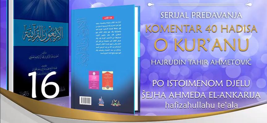 16 Komentar 40 hadisa o Kur'anu