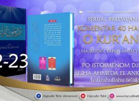 22-23 Komentar 40 hadisa o Kur'anu