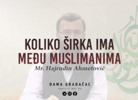 KOLIKO ŠIRKA IMA MEĐU MUSLIMANIMA – Mr. Hajrudin Ahmetović