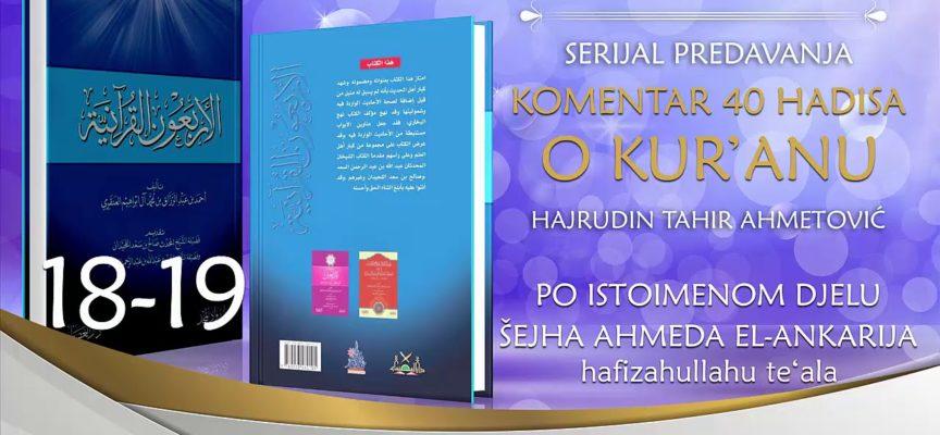 18-19 Komentar 40 hadisa o Kur'anu