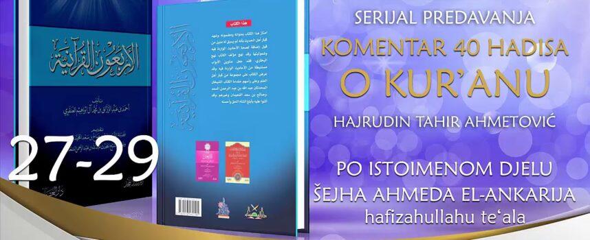 27-29 Komentar 40 hadisa o Kur'anu