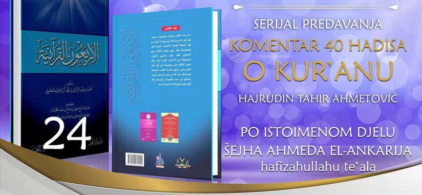 24 Komentar 40 hadisa o Kur'anu