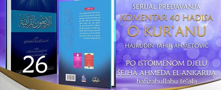 26 Komentar 40 hadisa o Kur'anu