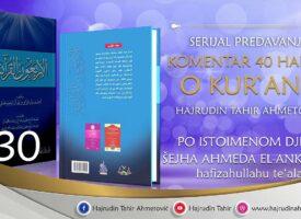 30 Komentar 40 hadisa o Kur'anu
