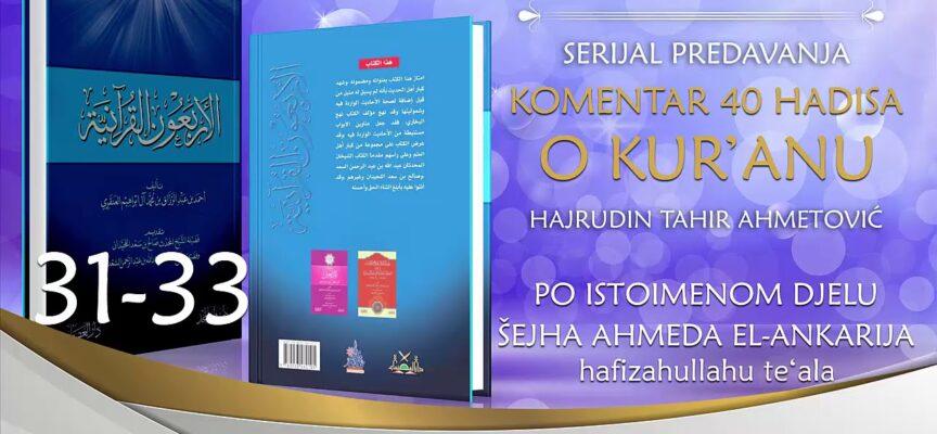 31 33 Komentar 40 hadisa o Kur'anu