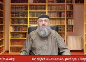 Klanjanje razdvojenih saffova – Dr Safet Kuduzović