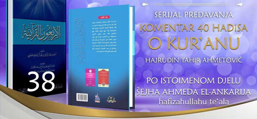 38 Komentar 40 hadisa o Kur'anu