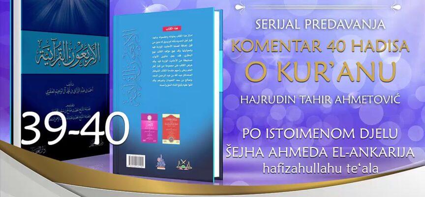 39-40 Komentar 40 hadisa o Kur'anu