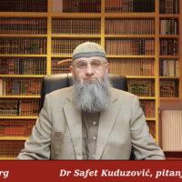 Pitanje u vezi vitr namaza -Dr Safet Kuduzović